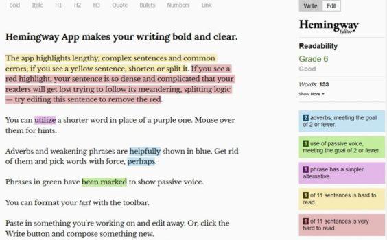 Best Grammarly Alternatives: Hemingway Editor