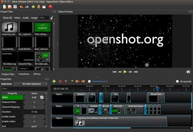 Best Windows Movie Maker Alternatives: OpenShot Video Editor