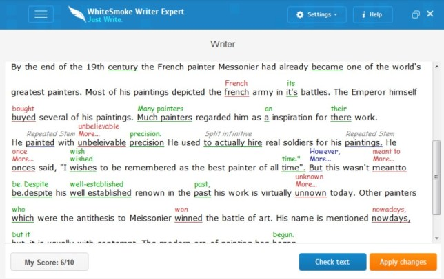 Best Grammarly Alternatives: WhiteSmoke
