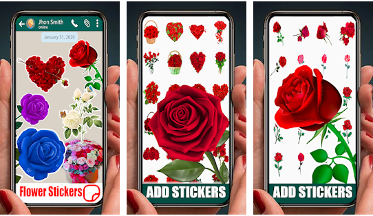 Beautiful Flowers And Roses Stickers For WhatsApp