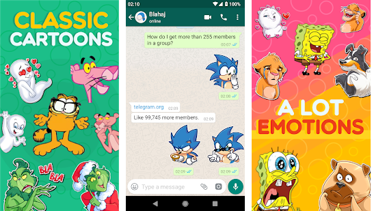 Cartoon Stickers App With All Expressions