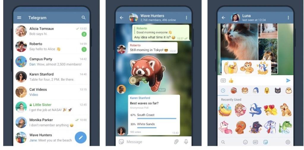 Telegram User Interface