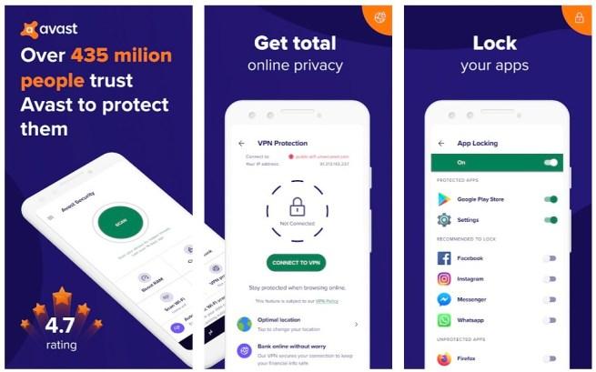 Avast mobile app