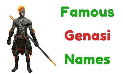 Famous Genasi Names