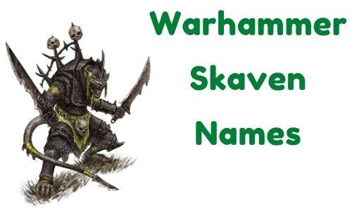 Warhammer Skaven Names