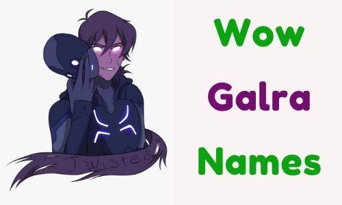 Wow Galra Names