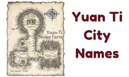Yuan Ti City Names