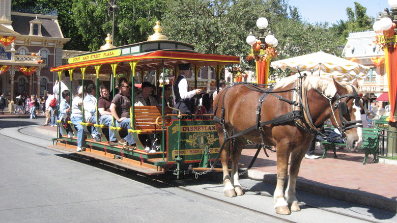 Horse-Drawn Streetcar at Disneyland - Cropped