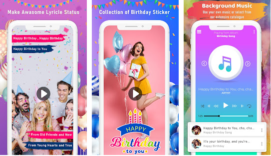 Easy Birthday Video Maker With Song And Name App
